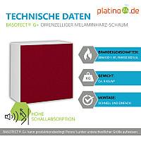 Schallabsorber aus Basotect ® G+ / Regaleinsatz passend z.B. für IKEA KALLAX oder EXPEDIT - Bordeaux