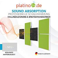 Wandbild Quadrate 3D-Effekt Schalldämmung, Set02 - Schallabsorber - Elemente aus Basotect ® G+