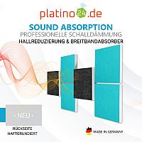 Wandbild Quadrate 3D-Effekt Schalldämmung, Set04 - Schallabsorber - Elemente aus Basotect ® G+