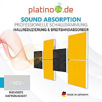 Wandbild Quadrate 3D-Effekt Schalldämmung, Set05 - Schallabsorber - Elemente aus Basotect ® G+
