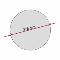 1 Akustik Schallabsorber aus Basotect ® G+ /  Kreis 27,5 cm (Granitgrau)