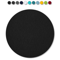 1 Akustik Schallabsorber aus Basotect ® G+ /  Kreis 27,5 cm (Schwarz)