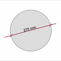 3 Akustik Schallabsorber aus Basotect ® G+ /  Kreis 27,5 cm (Schwarz)